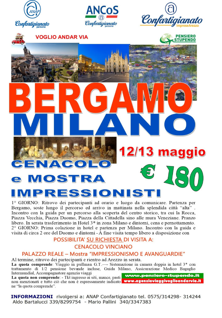 Bergamo e Milano gita anap