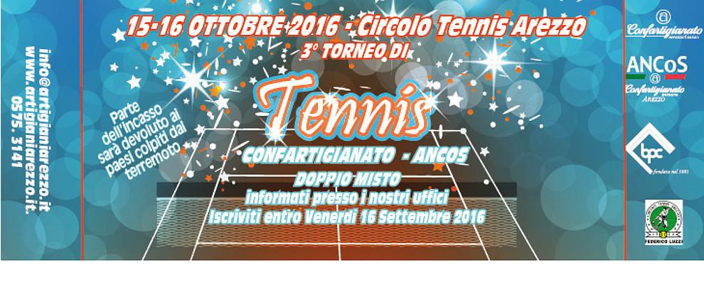 Aperte le iscrizioni al 3 Torneo di Tennis promosso da Confartigianato e Ancos