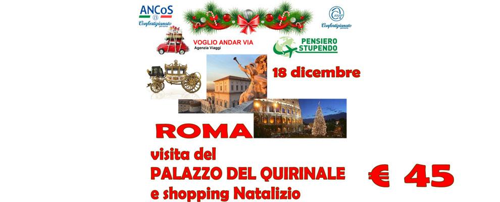 Roma visita al Palazzo del Quirinale e shopping natalizio