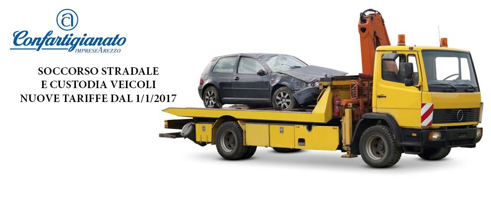 Soccorso stradale e custodia veicoli. Ecco le tariffe 2017