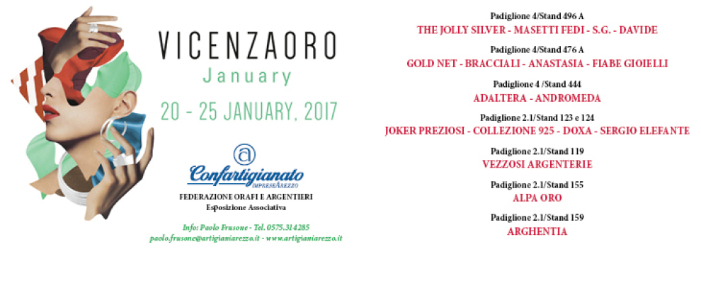 Confartigianato a VicenzaOro January dal 20 al 25 Gennaio