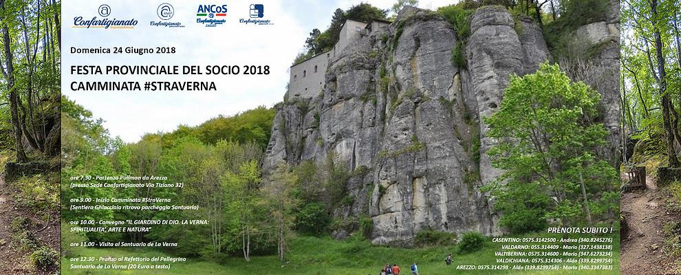 Aperte le adesioni alla StraVerna e alla Festa Provinciale del Socio 2018