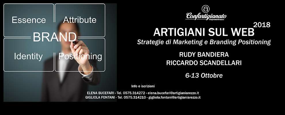 Marketing e Branding Positioning. Ad Arezzo Rudy Bandiera e Riccardo Scandellari