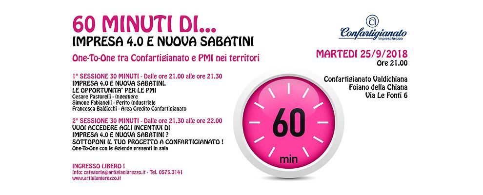 60 Minuti di. Confartigianato incontra le PMI della Valdichiana su Impresa 4.0 e Nuova Sabatini