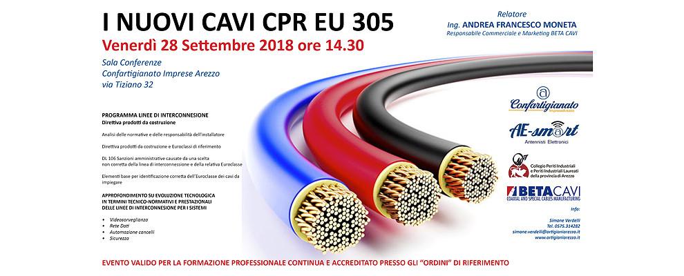 Cavi CPR EU 305. Confartigianato organizza Seminario per Impiantisti e Professionisti