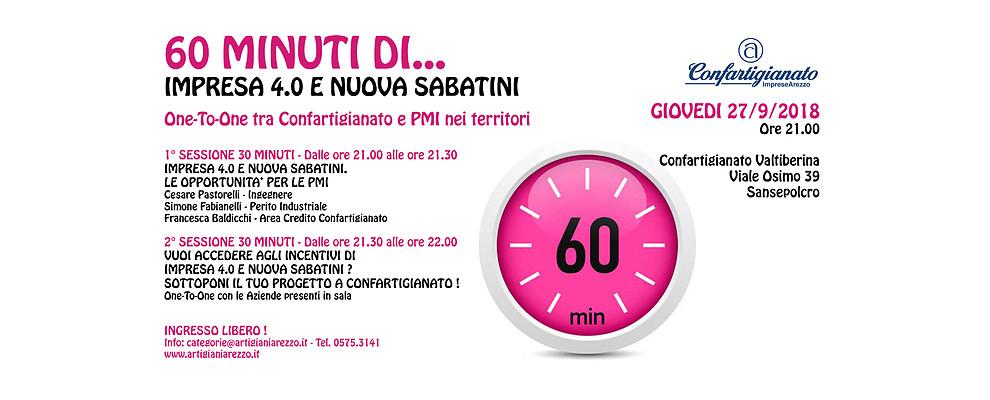 60 Minuti di. Confartigianato incontra le PMI della Valtiberina su Impresa 4.0 e Nuova Sabatini