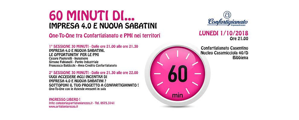 60 Minuti di. Confartigianato incontra le PMI del Casentino su Impresa 4.0 e Nuova Sabatini