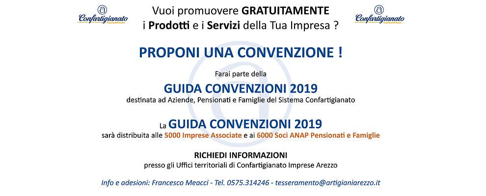 Aderisci gratuitamente alla Guida Convenzioni Confartigianato 2019 !