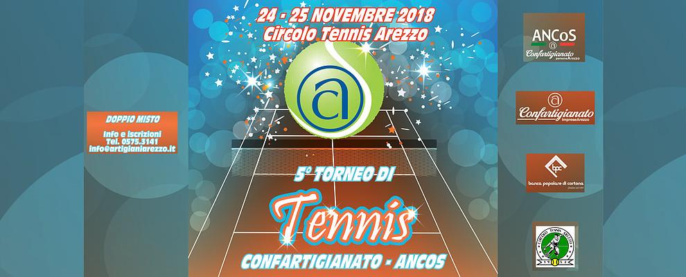 Aperte le iscrizioni al 5° Torneo di Tennis organizzato da Confartigianato e Ancos