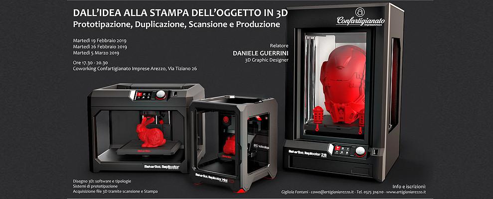 Dall'idea alla stampa 3D. Confartigianato promuove Corso nello spazio Coworking