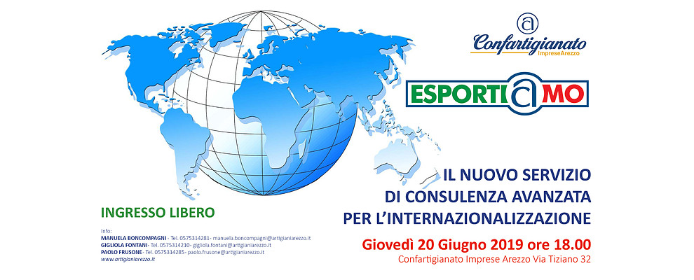 Esportiamo. Il nuovo servizio di consulenza avanzata per l'internazionalizzazione