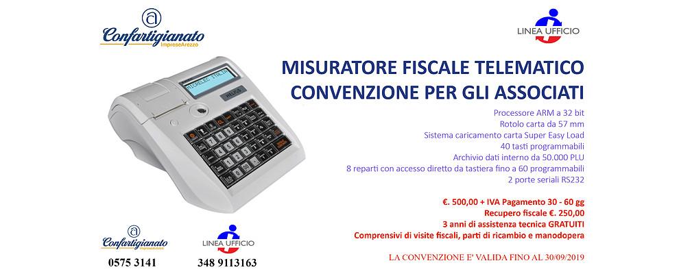Misuratore fiscale telematico. Confartigianato stipula convenzione per gli Associati