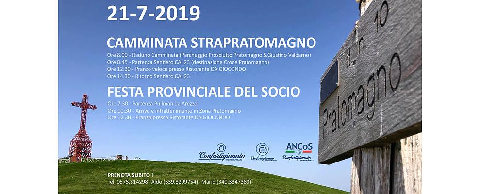 Domenica 21 Luglio 2019 torna la Festa del Socio con la camminata in Pratomagno