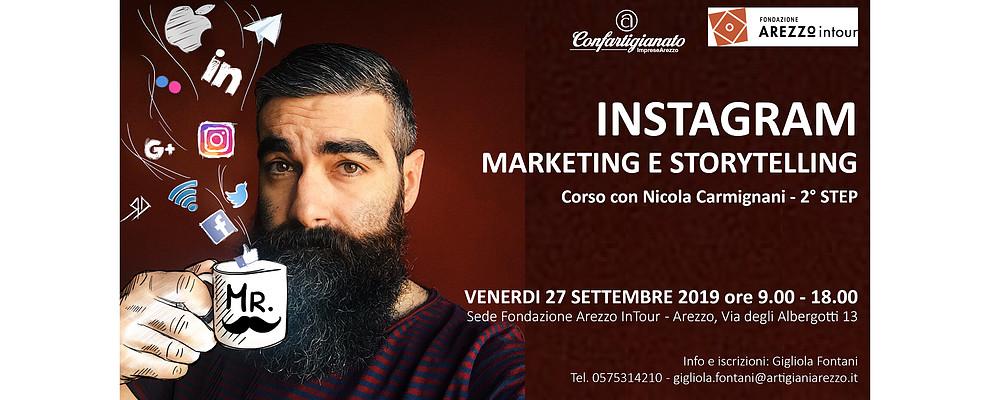 Instagram Marketing e Storytelling. Il 27 Settembre torna ad Arezzo Nicola Carmignani