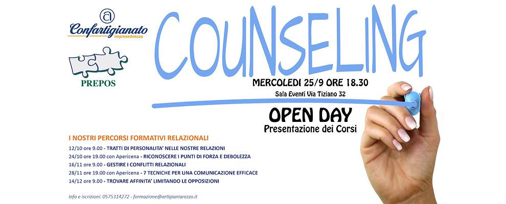 Confartigianato e Counseling. Il 25 Settembre la presentazione ufficiale dei Corsi