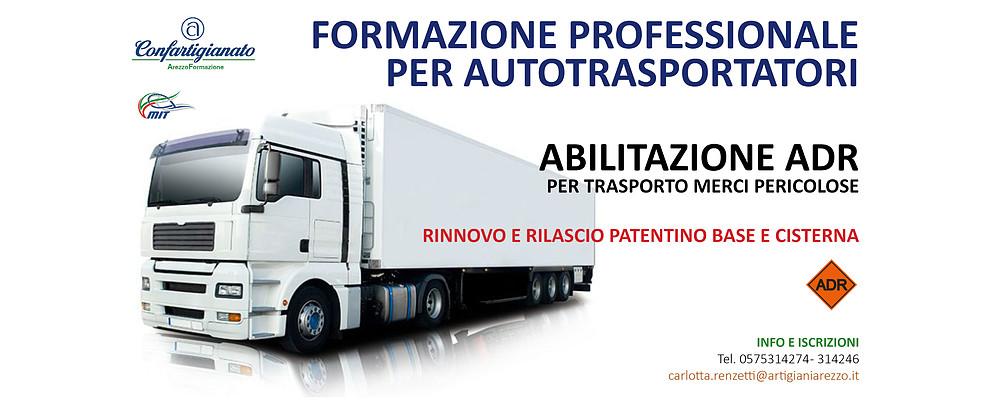 Trasporto merci pericolose. Nuovi Corsi per rinnovo e rilascio patentino ADR