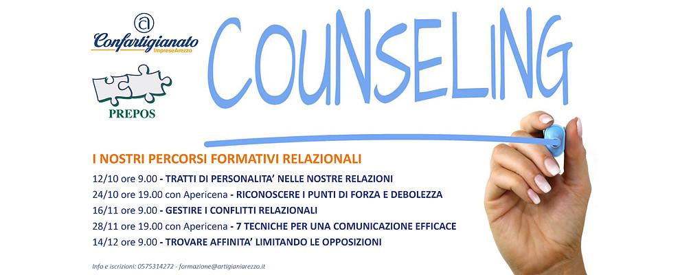 Confartigianato e Counseling. Dal 12/10 parte la nuova formazione relazionale