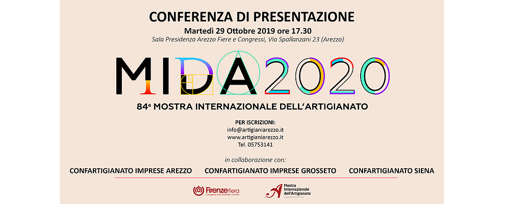 Mostra dell'Artigianato Firenze. Ad Arezzo Fiere la presentazione dell'edizione 2020