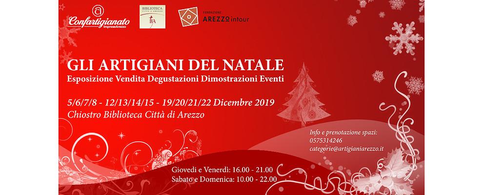 A Dicembre gli Artigiani del Natale protagonisti nel Chiostro della Biblioteca di Arezzo