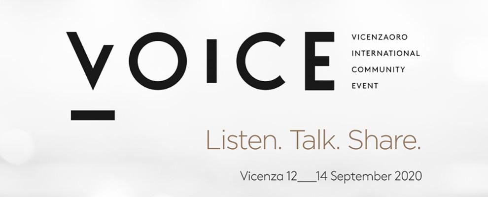VOICE. Nuovo evento dedicato alla promozione del gioiello Made in Italy (Vicenza 12-14 Settembre)