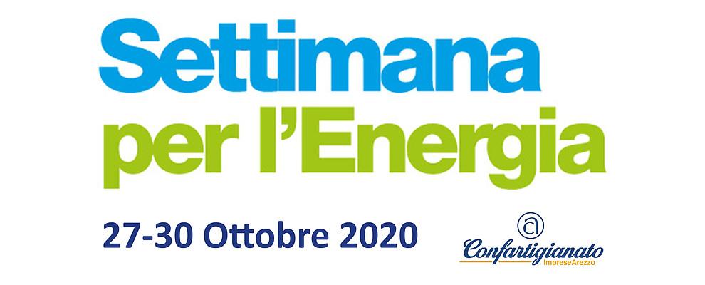 SETTIMANA PER L'ENERGIA. Dal 27 al 30 Ottobre la 12° edizione dell'evento targato Confartigianato