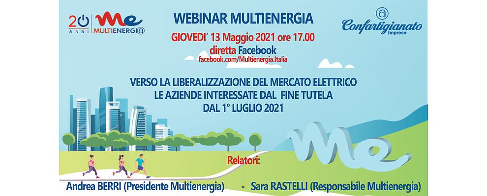 La liberalizzazione del mercato elettrico. Multienergia promuove webinar in diretta facebook