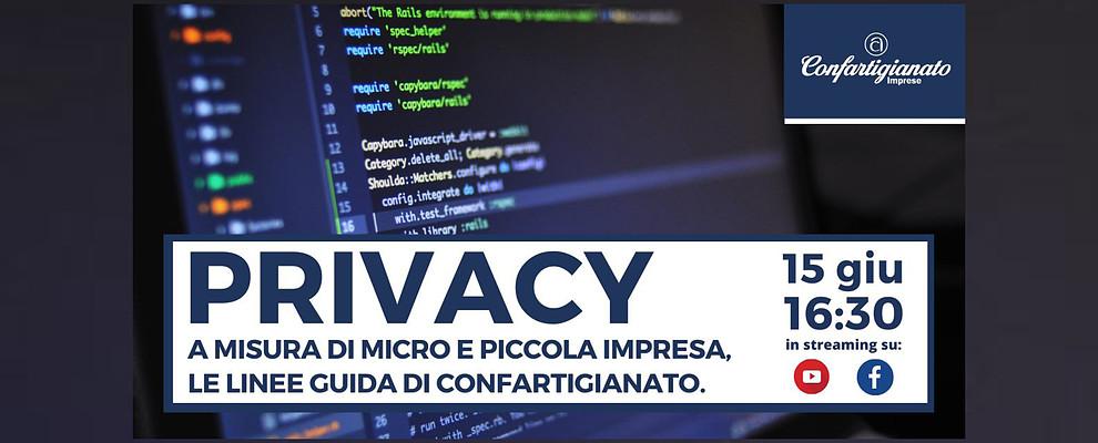 Privacy a misura di micro e piccola impresa. Webinar sulle linee guida di Confartigianato
