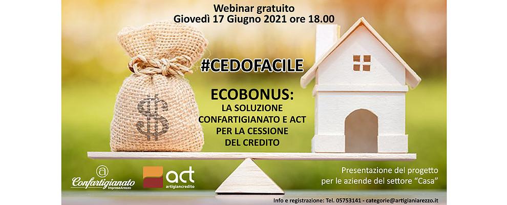 CEDOFACILE. Ecobonus: la soluzione Confartigianato e ACT per la cessione del credito