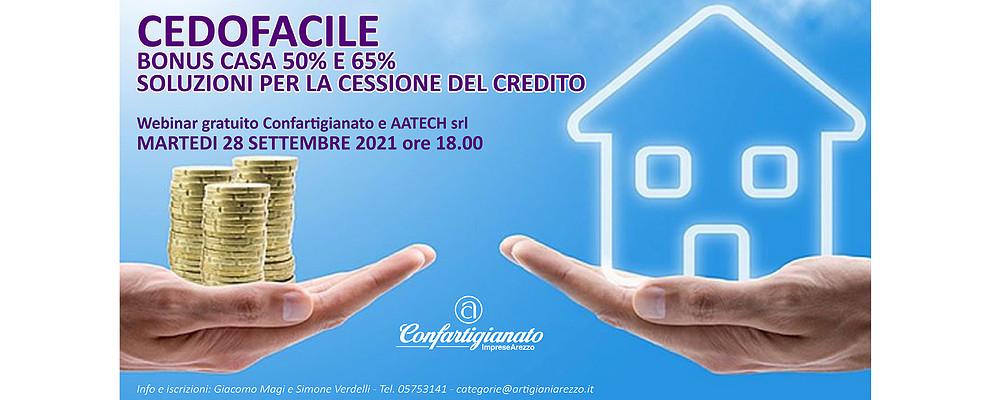 Bonus Casa. Webinar gratuito sulle soluzioni per la cessione del credito